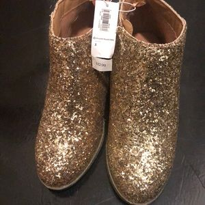 Brand new gold glitter shoes.